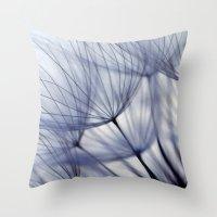 Dandelion In Blue No.2 Throw Pillow