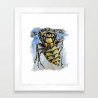 Wasp Attack Framed Art Print