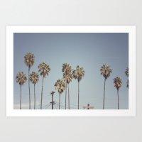 Lines + Lines + Lines | Highland Park, Los Angeles Art Print