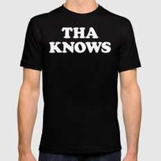 Tha Knows Mens Fitted Tee Black SMALL