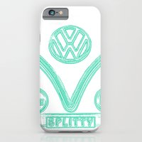 VW Splitty Teal iPhone 6 Slim Case