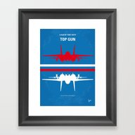 No128 My TOP GUN Minimal… Framed Art Print