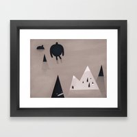 monsters are coming. Framed Art Print