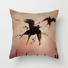 On your fears,  ... swallow them.   Throw Pillow