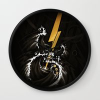 Electric Guitar Storm Wall Clock