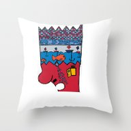 Little Monsters From My … Throw Pillow