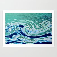 OCEAN ABSTRACT 2 Art Print