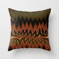 Fractal Tribal Art In Au… Throw Pillow