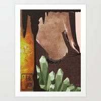 Original Bending Masters Series: Badgermoles Art Print