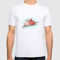 Two Birds Mens Fitted Tee Ash Grey SMALL