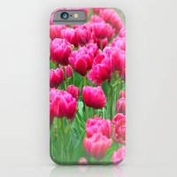 iPhone Cases featuring Spring Tulips in Lavender by Sherri Woodbridge