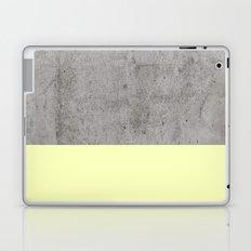 Yellow on Concrete Laptop & iPad Skin