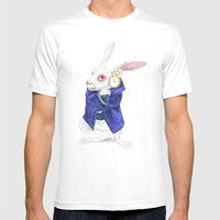 The White Rabbit Mens Fitted Tee White SMALL