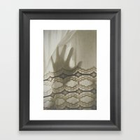 The Boy Behind The Curta… Framed Art Print