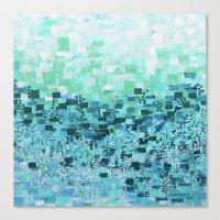 :: Sea Glass Compote :: Canvas Print