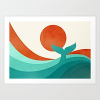 wave Art Prints featuring Wave (day) by Jay Fleck