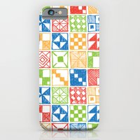 Abstract Squares Primary iPhone 6 Slim Case