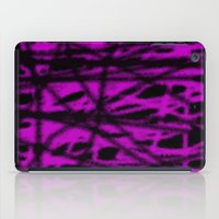 Pink And Black Wire iPad Case