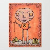 Number Three Canvas Print