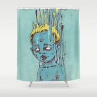 The Blue Boy with Golden Hair Shower Curtain