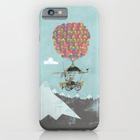 iPhone & iPod Case featuring Riding A Bicycle Through The Mountains by Wyatt Design