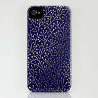 Gold Berry Branches On N… iPhone (4, 4s) Slim Case