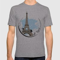 de Paris Mens Fitted Tee Athletic Grey SMALL