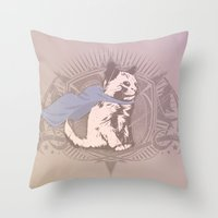 Fearless Creature: Kit Throw Pillow