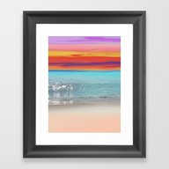 Framed Art Print featuring Streaks Of Color Abstrac… by Jen Warmuth Art And …