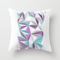 TRIANGLES//01 Throw Pillow