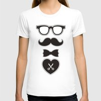 mustache T-shirts featuring Mustache by solomnikov