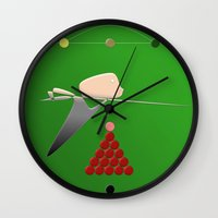 The Snooker Player Wall Clock