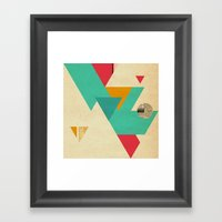 Monster Teeth I Framed Art Print