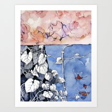 Climbing the painted Art Print