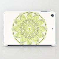 Green Circle Pattern iPad Case