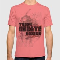 Think. Create. Design Mens Fitted Tee Pomegranate SMALL