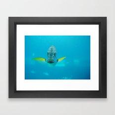 Hello Fish Framed Art Print