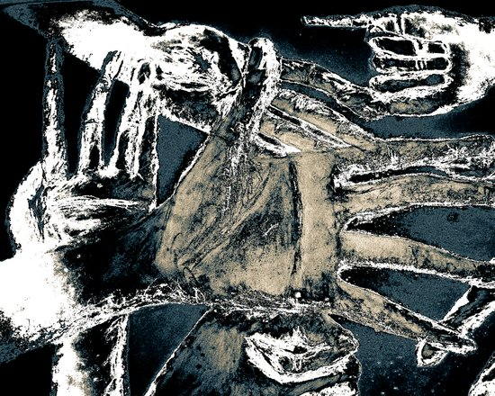 jungle of hands Art Print