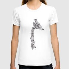 The Anatomy Of A Giraffe Womens Fitted Tee White SMALL