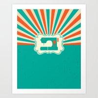 Sew-burst Art Print