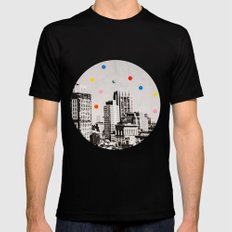 citydots Mens Fitted Tee Black SMALL
