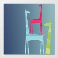 Giraffe Trio Canvas Print
