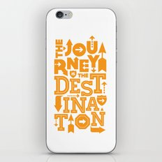 Orange Type Journey Quote  iPhone & iPod Skin