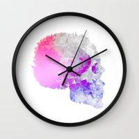 Low poly skull Wall Clock
