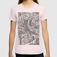 The Town of Train 2 Womens Fitted Tee Light Pink SMALL