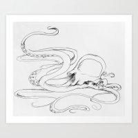 Jellyfish-man Art Print