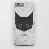 lady iPhone & iPod Cases featuring MEOW by Wesley Bird