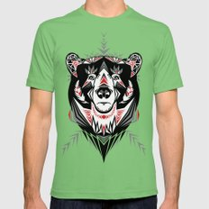 American Indian bear Mens Fitted Tee Grass SMALL