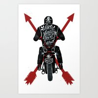 Live Fast, Love Hard Art Print