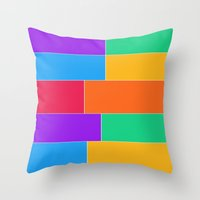 Patched Together Throw Pillow